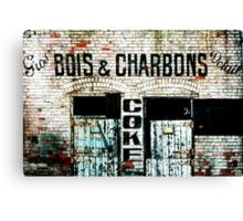 Bois & Charbons Canvas Print