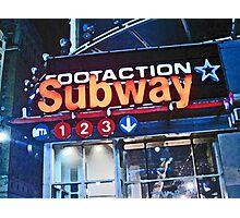 Subway Sign Photographic Print