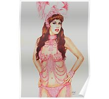 Sarina in the pink Poster