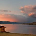 Sunset on lake Baikal by Alosh