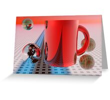 Daydreams with morning coffee Greeting Card