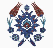 Iznik Tile inspired - The Owl by tragicprince