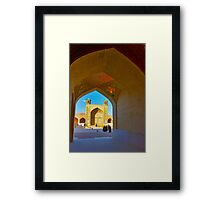 Through The Arches - Vakil Mosque - Shiraz - Iran Framed Print