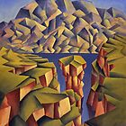 Structured Landscape with sea by Alan Kenny