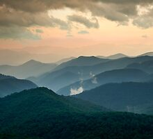 Evening Glow - Blue Ridge Parkway Summer Evening by Dave Allen