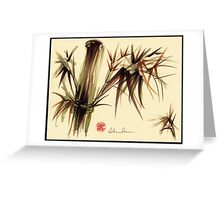 """Bamboo Symphony"" Original acrylic wash & brush pen painting Greeting Card"