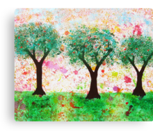 Loves Nature - Trees with Love Hearts Canvas Print