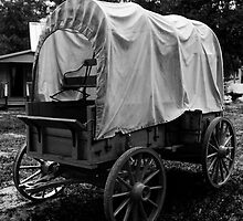 covered wagon by Ted Petrovits