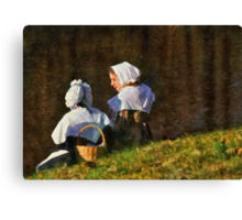 People - The young maidens Canvas Print