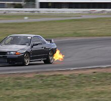 NISSAN SKYLINE GTR - NIPPON FLAME THROWER by Ian Nichols