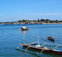 Fishing Boats in Baywalk, Palawan by walterericsy