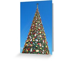 Giant Christmas Tree in Palawan, Philippines Greeting Card