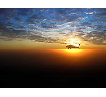 AH-64D at Sunrise Over Baghdad Photographic Print