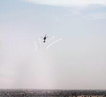 AH-64D Pops Flares by Eduardo Alomar