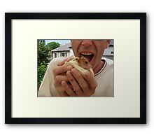 There's No Need To Bite My Head Off!! Framed Print