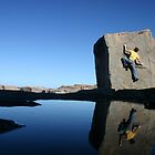 Reflections of a climber in Port Stephens by Tim and Loz .