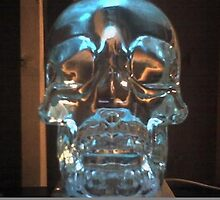Crystal Blue Skull by HKBlack