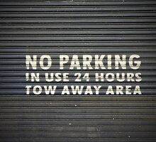 No parking sign, Pyrmont Sydney by Colin Chang