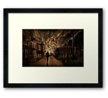 Song is Over Framed Print