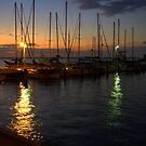 Dawn at the Marina by Kerry  Hill