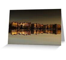 Reflections of Amsterdam - Morning Gold Greeting Card