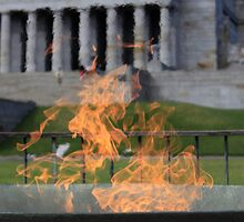 Eternal flame at Melbourne Shrine by nadolphs