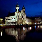 Baroque Jesuit Church, Lucerne by Al Bourassa