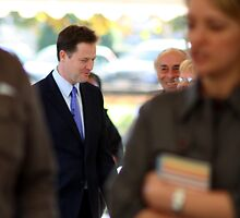 Standing Out In The Crowd - Nick Clegg, LibDem Leader, British Politician by Lynn Ede