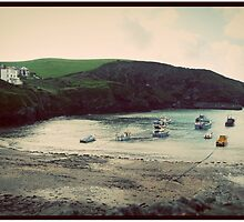 Vintage Fishing Village by Theresa Furey Photography