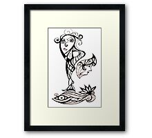 Thinking Hard or Hardly Thinking Framed Print