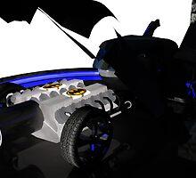 Batmobile Engine bay by Matt Tollenaar