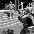 Body Builder At Flinder St by Andrew  Makowiecki