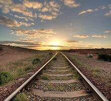 Into The Sunset - Port Augusta - Australia by Frank Moroni