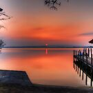 Sunset at Lake Zug by Ted Lansing