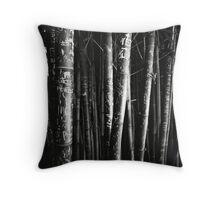scarred bamboo Throw Pillow