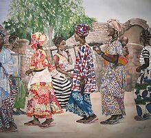 Malian Dancers by cszuger