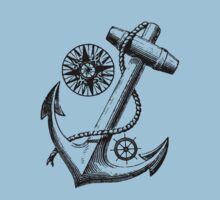 Vintage Nautical Anchor Design by Laura Sanders