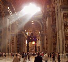 Heaven's Light through a Skylight - Saint Peter's Basilica  by tarenjane