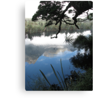 Mirror lake in the Morning - New Zealand  Canvas Print