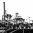 Port Botany cranes by Alex Howen