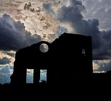 Silhouette Lithgow Blast Furnace by Dianne English