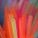Coloured drinking straws by heidiannemorris