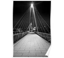 Pedestrian Bridge, Embankment, London Poster