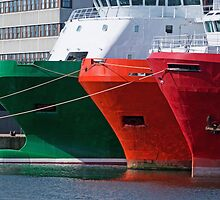 Moored Ships by Panalot