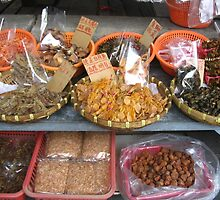 Dried fish in Tai O market, Hong Kong by Camelot