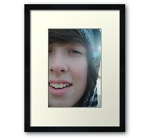 Sometimes being a brother is even better than being a superhero. Framed Print