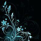 Grunge floral background by Olga Altunina