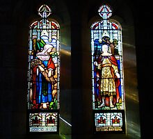 Ruth and Jonathon window by Jan Stead JEMproductions