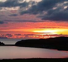 Sunset over Loch Spiggie  by Shaun Whiteman