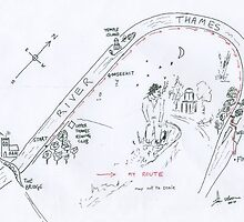 On your knees - Map of the route by ian osborne